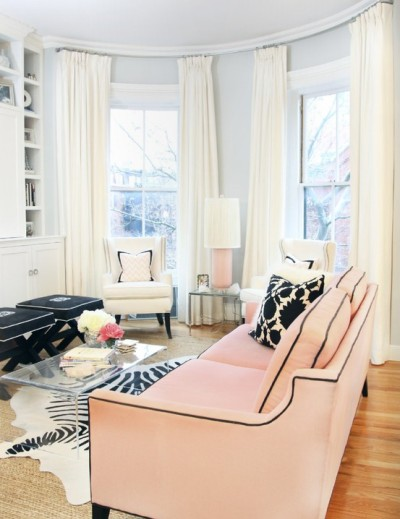 Tailored ladylike living room