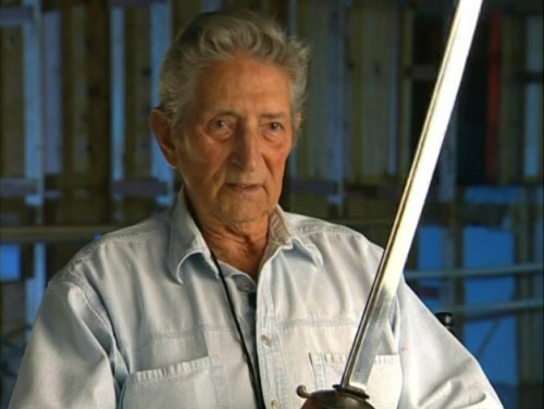"RIP Bob Anderson: the worlds most awesome swordsmaster. He was not just Vader during the duels in Empire and Jedi, but was also responsible for the swordplay in ""The Princess Bride"", the ""Lord of the Rings"" films, ""Highlander"", ""Zorro"" and a slew of others."