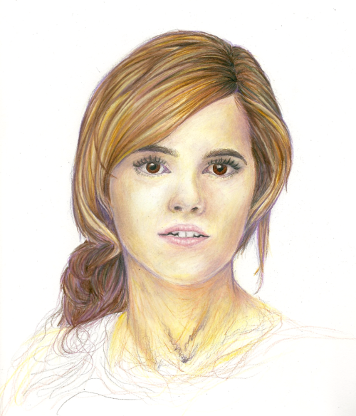 Emma Watson Prismacolour pencils, around 11 hours