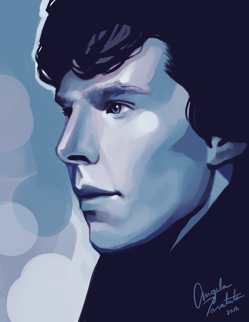 cosmic-nerd-angel:  PRINT AVAILABLE  sherlock. 1 hour speedpaint.first drawing of 2012!