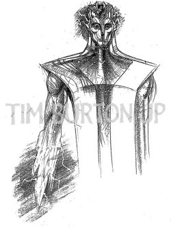 "Toy Concept Art from Tim Burton's Superman Lives:ERADICATOR  ティム・バートンの「スーパーマン・リヴズ」 のマーチャンダイスのために描かれたスーパーマンのコンセプトアート。 ERADICATORCreated by Jor-EI, Superman's father, to be Superman's ""protector"" and to rescue him from Death.Embodies the ""newtechnology"" and the ""good"" of Krypton. Is a power source that never runs out.Comes to ""life"" in the Fortress of Solitude where he re-activates Superman's signature technology.Can take different forms depending on the situation and the specific need required to protect Superman.Appears in the movie in two different forms: 1)as a humanoid; 2)as ""special suit"" for energizing Superman during the all-encompassing darkness.As a humanoid, the Eradicator is majestic, wisely and imposing.Has a heroic body, composed of pure energy, that is clothed is translucent robes."