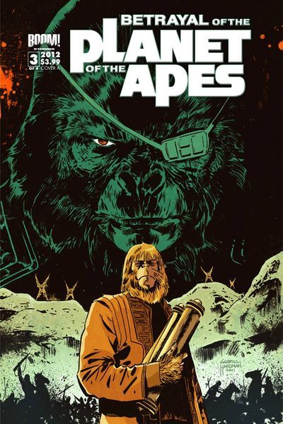 Market Monday Betrayal of the Planet of the Apes #3, co-written by Corinna Sara Bechko, colored by Jordie Bellaire