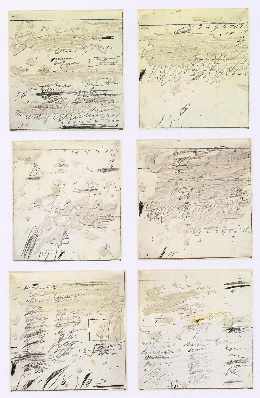 Cy Twombly - Poems to the Sea i-vi, 1959