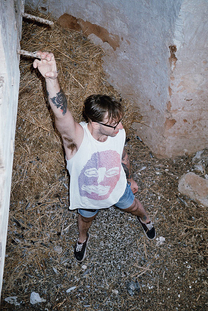Pawel in the barn on Flickr.Spaghetti Wolf T-shirt  model: Pawel photo by Iza
