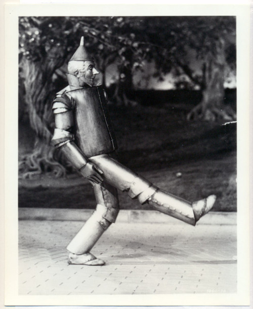 "vintagesonia:  Jack Haley as the ""Tin Man"" in The Wizard of Oz (1939)    ""Hearts will never be practical until they are made unbreakable."""