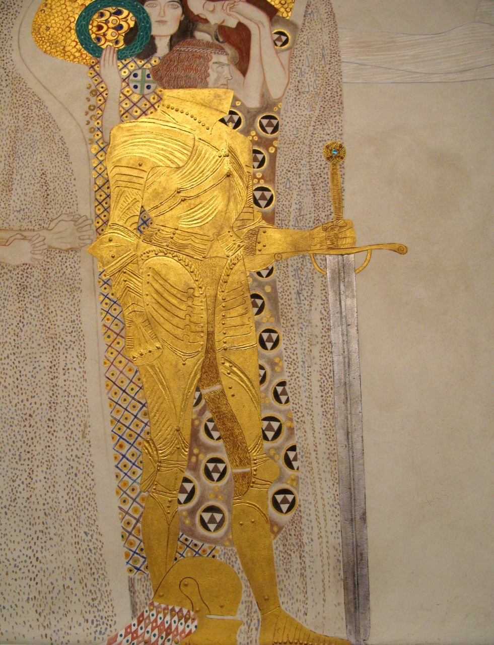 versushipster:  Gustav Klimt, detail from his Beethoven Frieze