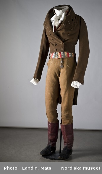 Men's ensemble, early 19th century, Nordiska Museet
