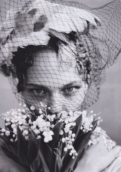 """The Wedding Party"", Sasha Pivovarova in Vogue June 2009 by Arthur Elgort"