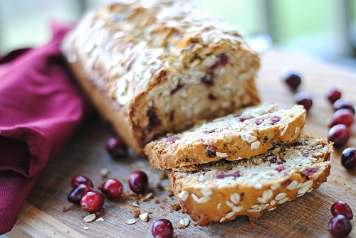 foodopia:  cranberry oat and honey bread: recipe here