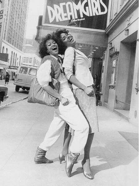 permanentexhibition:  Phylicia (Ayers-Allen) Rashad and Debbie Allen, photographed by Moneta Sleet, Jr. for Ebony. From Debbie's pointed toe to their beautiful smiles, it's probably one of my favorite magazine photos ever.