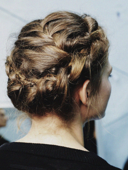 Backstage at Valentino HC A/W 10