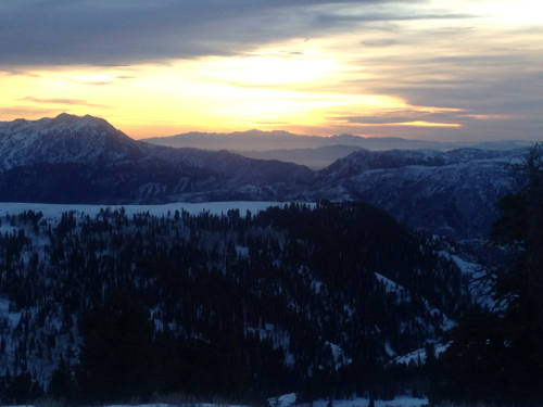 A beautiful sunset viewed from the top of Powder Mountain, Utah!