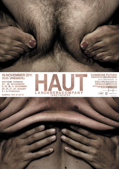 poster for HAUT, a 2011 dance piece by LANDERER&COMPANY