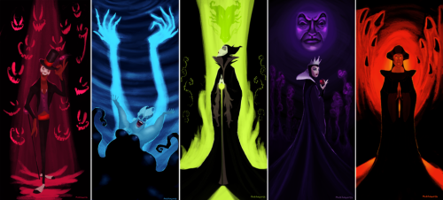 "fairytalemood:  ""Disney Villains"" by Matthew Howorth"