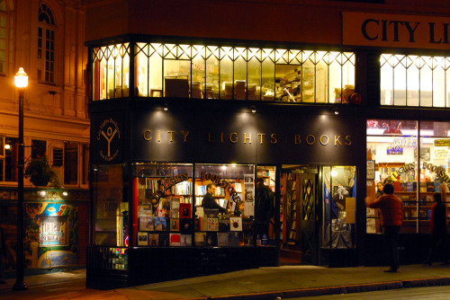 City Lights Books in San Francisco. This is a wonderful bookstore. Appearance-wise it reminds me of Three Lives in New York, but it's much bigger and has a better selection.