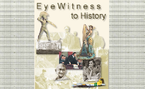 "kbkonnected:  Eyewitness to History is a really neat site.   #sschat #history ""Your ringside seat to history - from the Ancient World to the present. History through the eyes of those who lived it"". Some features include… History in motion Voices of the 20th century It Happened this Month Notable Quotes You may also like… On this Day Egyptian Hieroglyphic Name Translator Alphabet Writer dMarie Time Capsule"