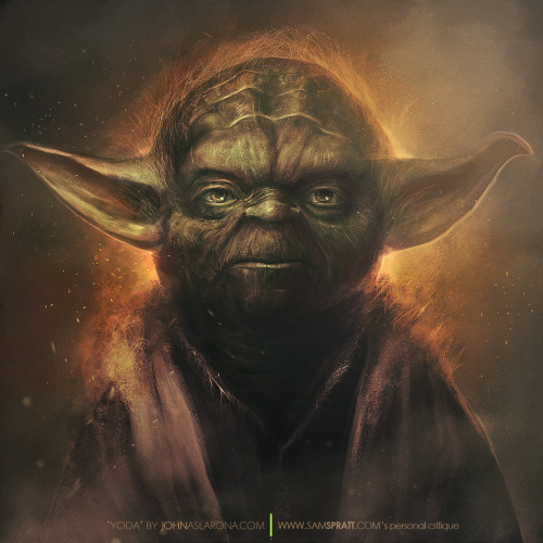 "johnaslarona:  YODA A one-on-one critique by Jedi Master SAM SPRATT to Padawan JOHN ASLARONA  ""Always two there are, no more, no less: a master and an apprentice."" Here's a bit of a prologue and more from Sam's tumblr.  Facebook    Google+   STORE@Society6   Tumblr   Twitter   DeviantART"
