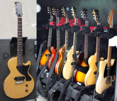 "Jonny Wickersham's Guitars From the ""they take what on the road?"" archives: the Social Distortion guitarist gigs with 1955 and 1957 Les Paul Juniors, a 1954 Les Paul Goldtop, and a Fender Blackguard Tele. See more guitars the stars take on the road in our photo gallery."