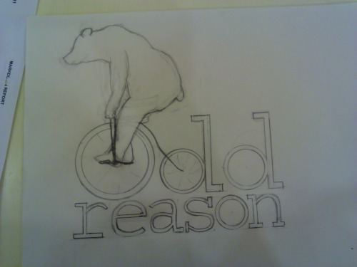 The first sketch for a new logo.