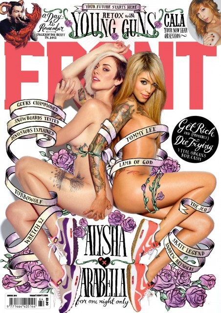 thecrashtest:     Issue 164 (most recent) of Front Magazine featuring models, Alysha Nett & Arabella Drummond.    If it's not a magazine subscription that you desperately want in your mailbox, then this is, at least, a magazine cover to die for. No, seriously, you might just die if you stare at it too long. It almost made me forget to breathe.     Check out Front Magazine here and get a taste for what's inside. (Pun intended!)