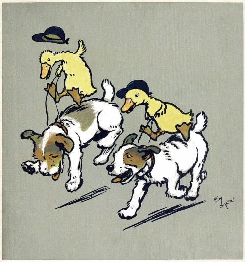 oldbookillustrations:  They were made to gallop, to canter, to trot. Cecil Aldin, from Cecil Aldin's merry party, told by May Byron, London, 1913. (Source: archive.org)