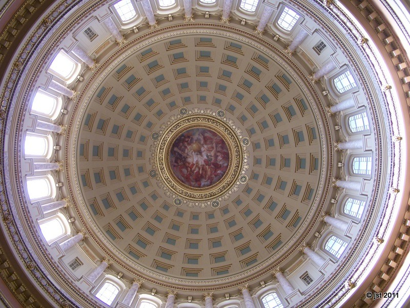 January 2, 2012 Day 365 Wisconsin Capitol dome.
