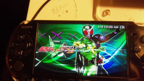 Kamen Rider W as my PSP theme now.