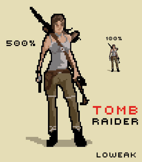 Happy New year to everyone ! I'm Back ! Today, Tomb Raider Pixel Art illustration !