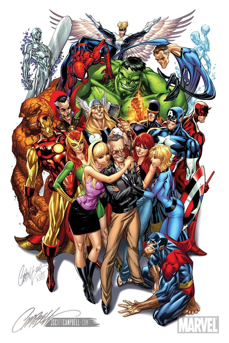 spideyssense:  Stan Lee tribute by J. Scott Campbell.