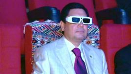 "Turkmenistan's 3-D Cinema Falls Flat With Customers ASHGABAT — Turkmenistan's first and only 3-D movie theater has fallen flat with audiences apparently tired of its one-dimensional film offerings, RFE/RL's Turkmen Service reports.  The multimillion-dollar cinema has been showing only one film, ""Turkmenistan the Heavenly Land,"" since it opened in central Ashgabat about six months ago."