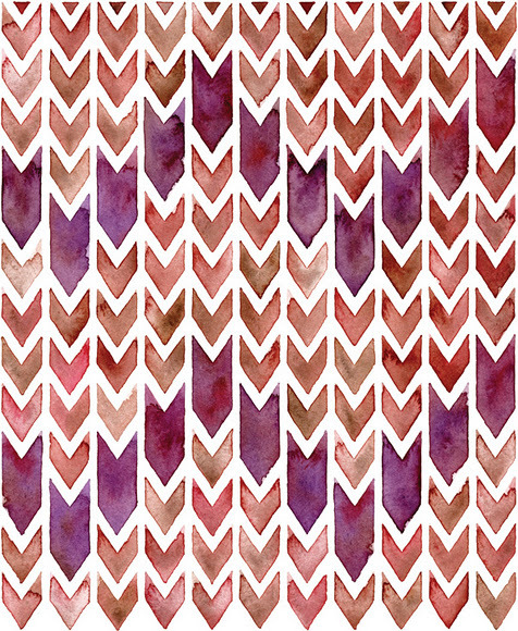 cafcaf:  Chevron Print by Sasha Prood (via pinkshirtsandcarwrecks)