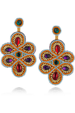 Kenneth Jay Lane | Oversized beaded clip earrings