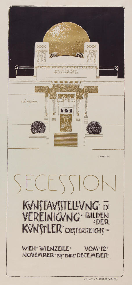 thereisbloodonmynose:  Second Vienna Secession poster by Joseph Maria Olbrich (the architect of the Secession building)
