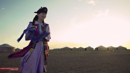 Lady in traditional Mongolian Deel