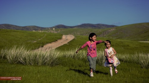 Children in Hustai National Park