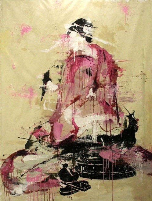 askios:  Geisha I, 2009      acrylic on canvas     By Lars Teichmann