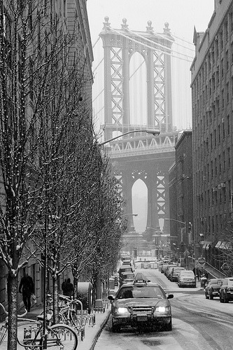 snowing in Brooklyn (by Barry Yanowitz)