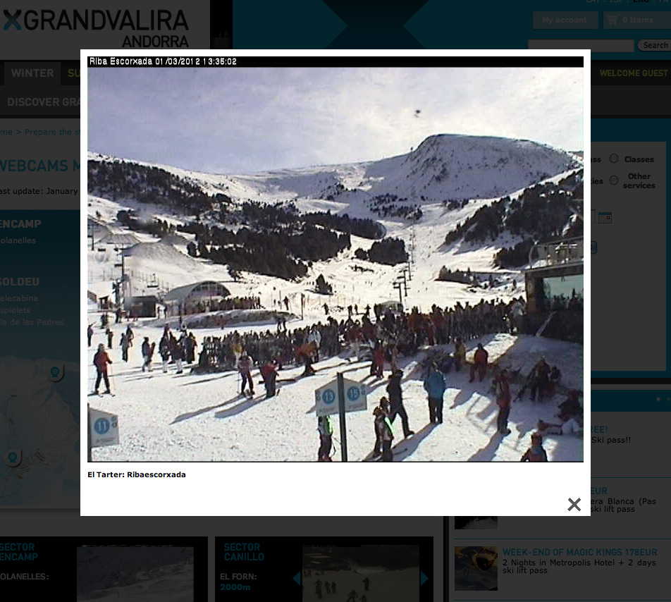 Looking good in Andorra - 54 days and counting! (Not sure about those queues though. Hmmm…)
