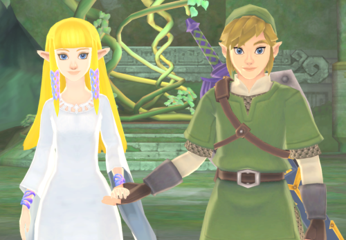 Link's got some serious DSL's in this game. But anyway, I think this is adorable.
