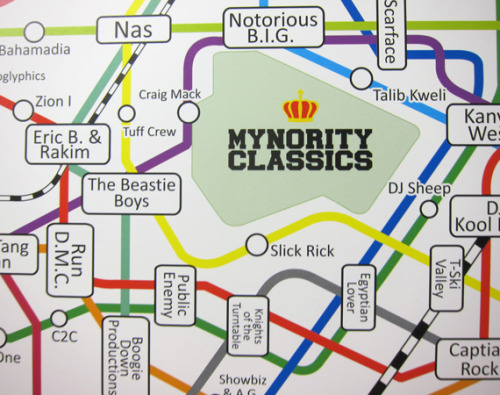 honeyanddeath:  Mynority Classics – 2012 Hip Hop Subway Calender