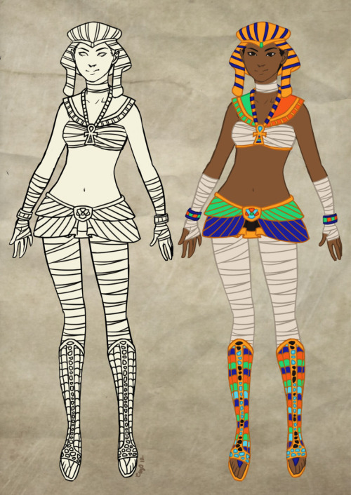 Drew a design for a Kemet (Egyptian) fuku for Sailor Myth! I realize I have been tumbling fuku designs and not actually linking to SMyth. I will fix that now.