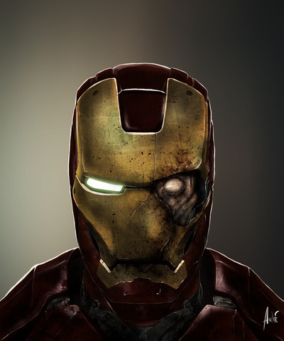 Zombie Iron Man. Just so damn cool. (by Andre De Freitas)