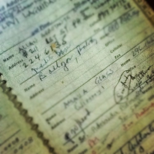 My parent's address book (Taken with instagram)