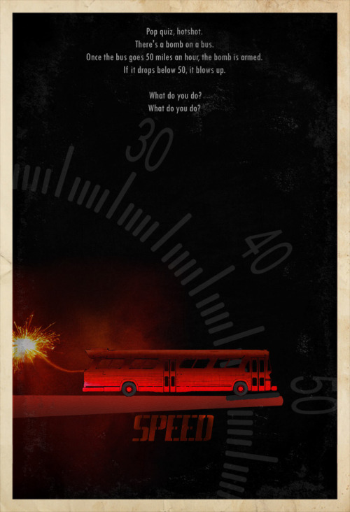 minimalmovieposters:  Speed by edgarascensao