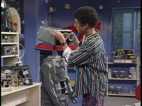 Screech, if you're so smart - why couldn't you program Kevin with 20/20 vision?