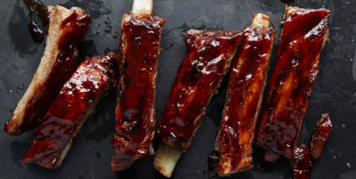 Roasted Spareribs With Tomato Maple BBQ Sauce