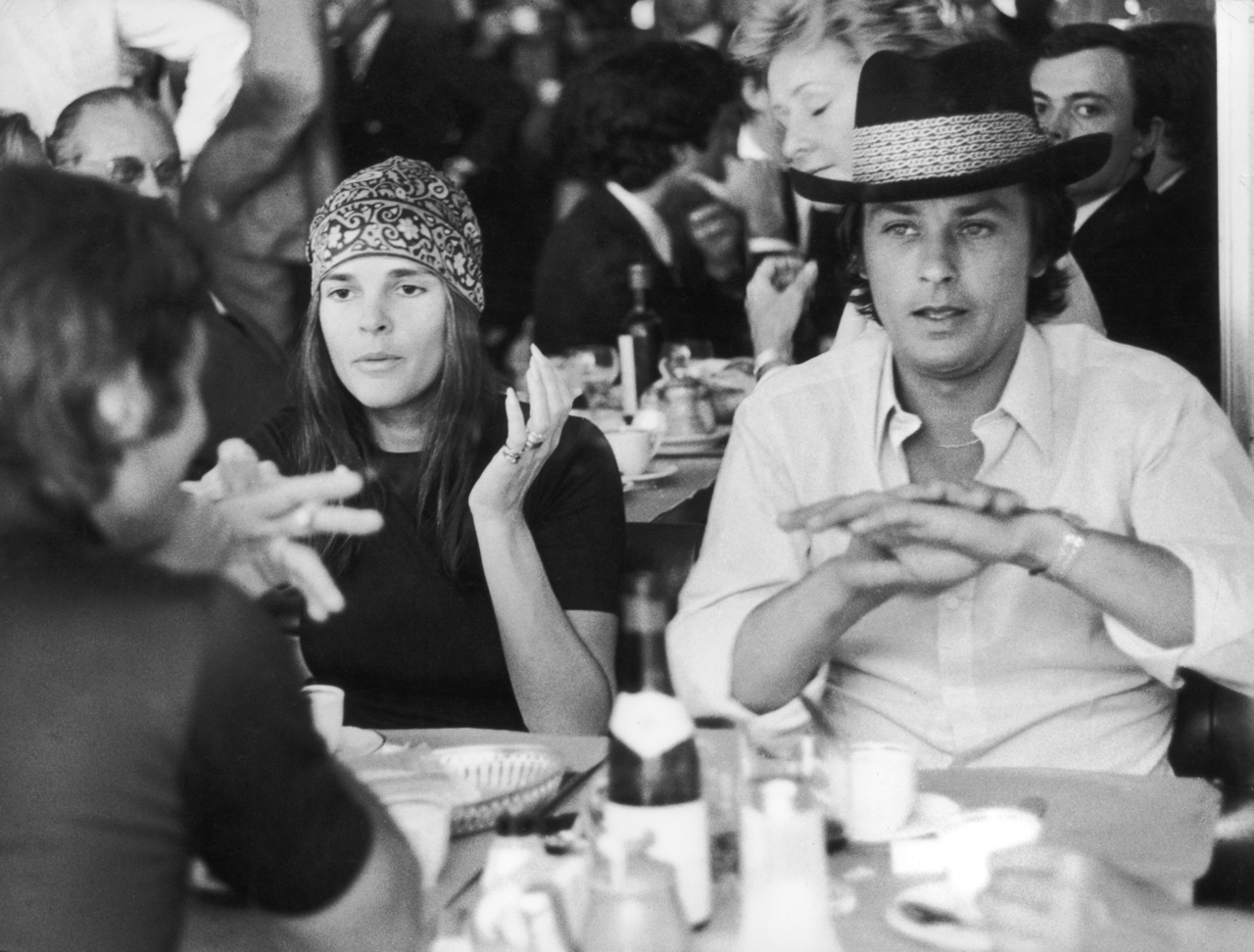 Ali MacGraw and Alain Delon
