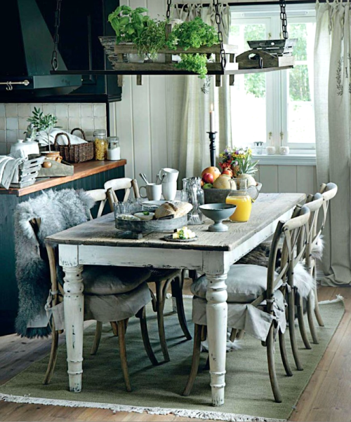 Shabby chic dining thelittlecorner:  The Little Corner