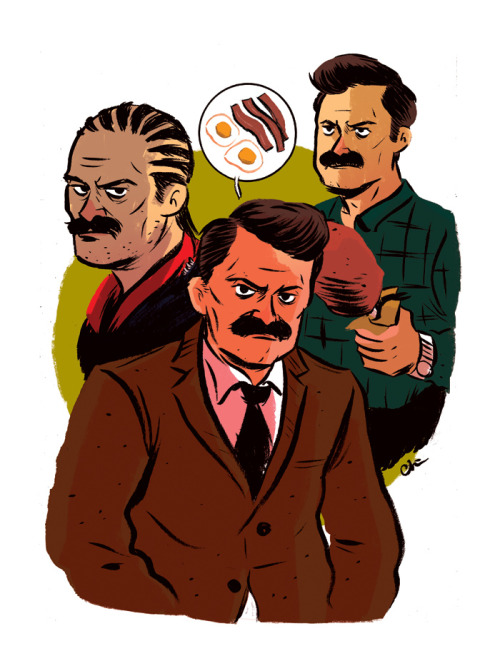 I was gonna draw Ron Swanson sooner or later.