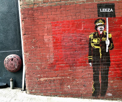Nothing makes me happier than this street art!   Gaddafi Loves Leeza (by Karon)
